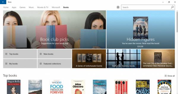 Продажа книг Windows Store