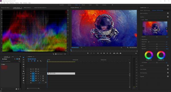 Интерфейс программы Adobe Premiere Pro