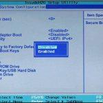 Secure Boot в материнской плате HP