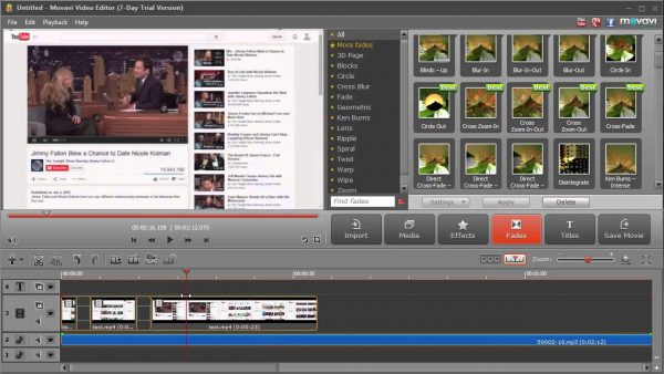 Интерфейс программы Movavi Video Editor