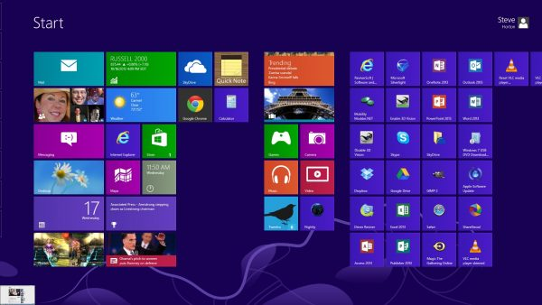 Charms Bar в Windows 8