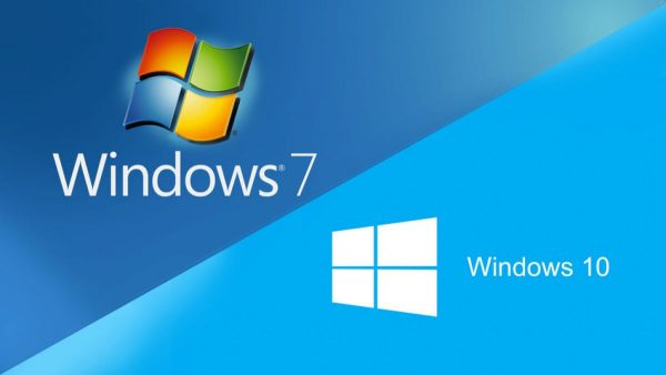 Логотипы Windows 7 и Windows 10