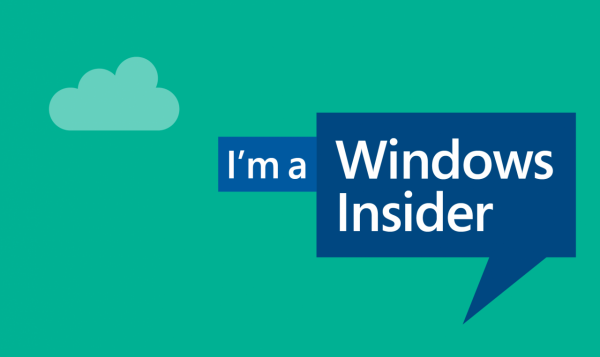 Надпись I'm a Windows Insider