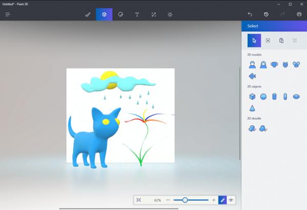 Новый графический редактор Paint 3D