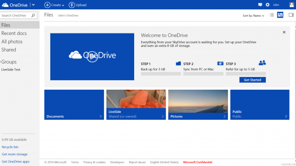 Облачное хранилище OneDrive