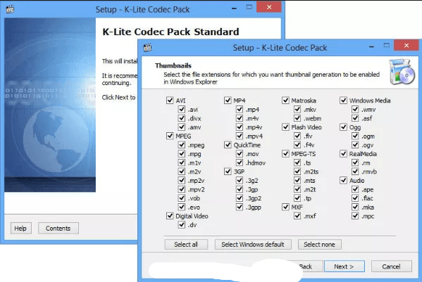 Приложение K-Lite Codec Pack Full для кодеков