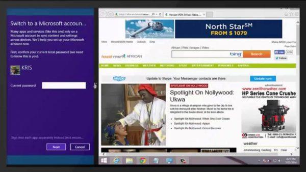 Разделение экрана в Windows 8