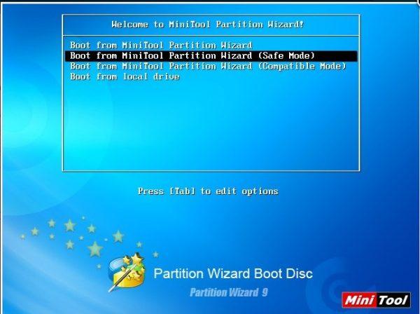 Утилита Minitool Partition Wizard