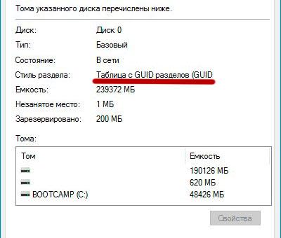 Жёсткий диск стандарта GPT