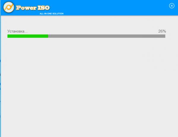 Установка Power ISO