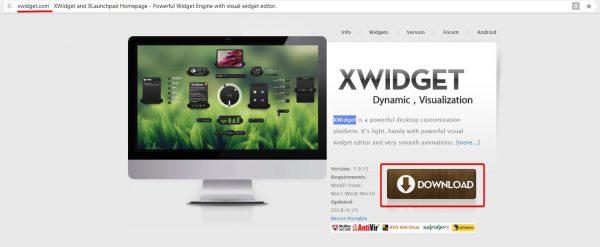 Официальный сайт разработчика XWidget