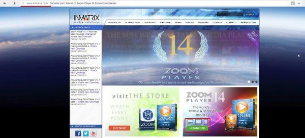 Официальный сайт Zoom Player