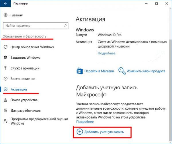 Окно активации Windows 10