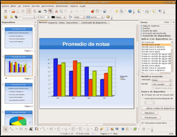 Приложение LibreOffice Impress