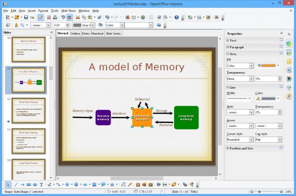Приложение OpenOffice Impress