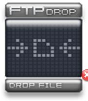 Внешний вид виджета FTP Drop