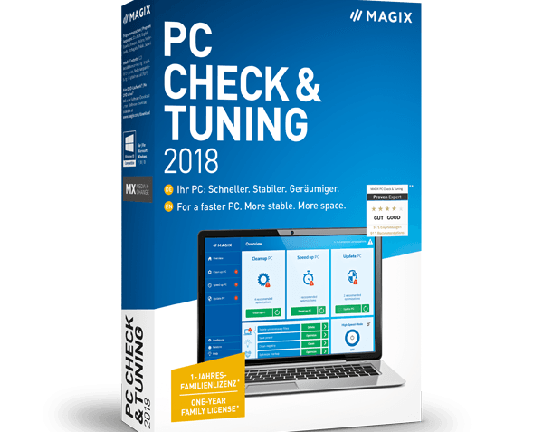 Программа MAGIX PC Check & Tuning