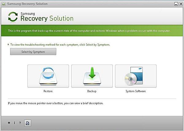 Сброс Windows 10 на ноутбуке Samsung