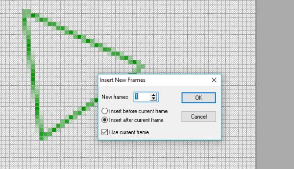 Окно Insert New Frames