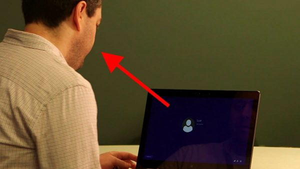 Распознавание лица с помощью опции Windows Hello