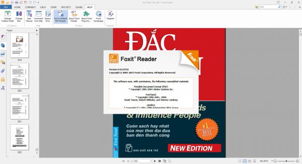 Окно программы Foxit Reader