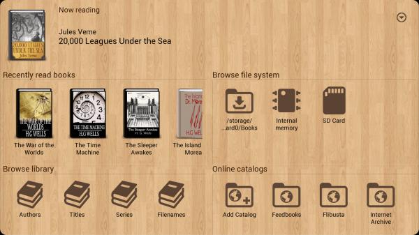 Окно программы Cool Reader