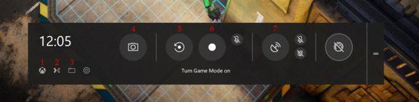 Функциональная панель Game Bar