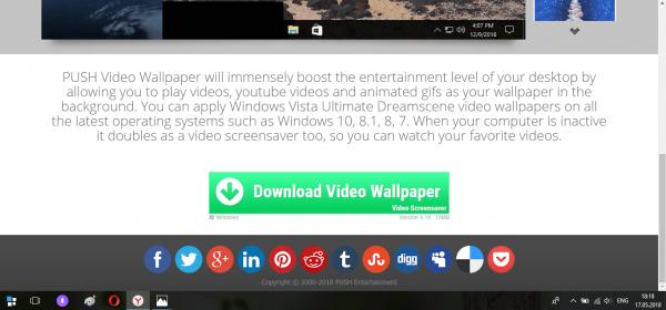 Официальный сайт разработчика Video Wallpaper