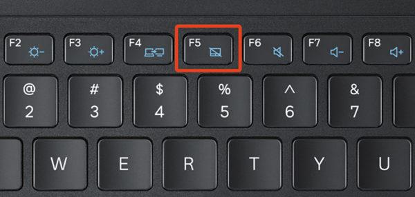 Кнопка включения тачпада на клавиатуре