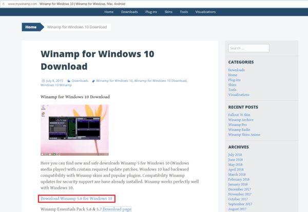 Сайт англоязычного сообщества фанатов Winamp