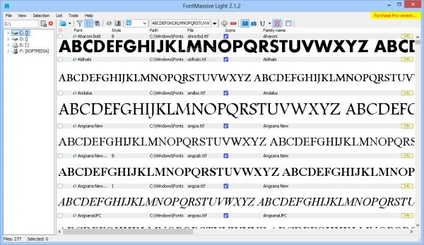Установка шрифта при помощи FontMassive Light