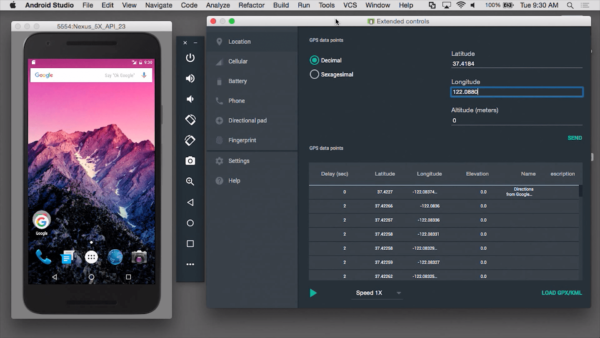Окно программы Android Studio