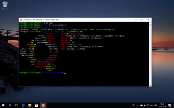 Использование ОС Ubuntu в Bash