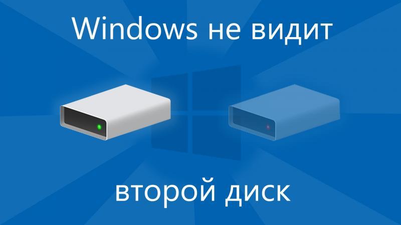Исчезновение жёсткого диска в Windows 10