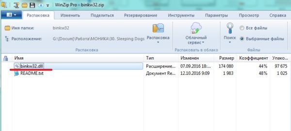 Установка недостающего файла .dll в систему Windows