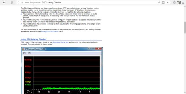 Официальный сайт DPC Latency Checker