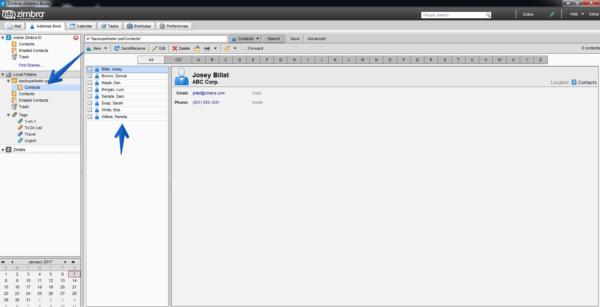 Утилита Zimbra Desktop