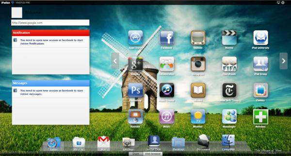 Окно iPadian 2
