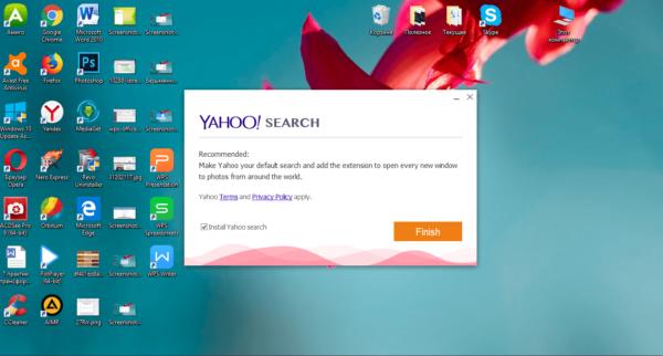 Установка Yahoo Search