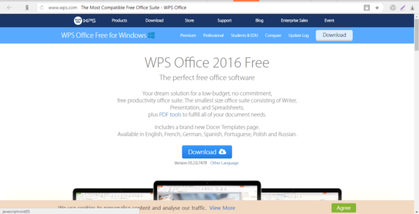 Официальный сайт WPS Office