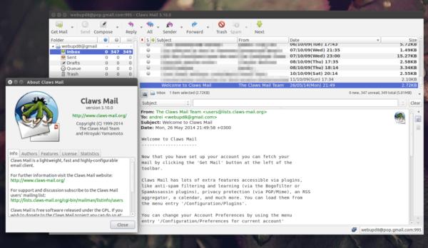 Утилита Claws Mail