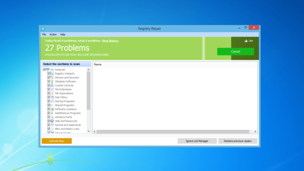 Программа Registry Repair