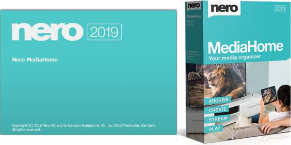 Стартовое окно и обложка программы Nero MediaHome