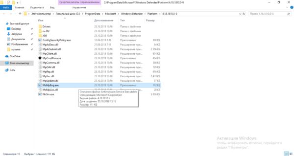 Файл MsMpEng.exe